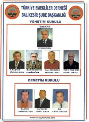 Balıkesiir Emekliler Derneği yönetim kurulu